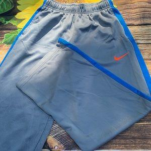 Boys Nike L Large Dri Fit gray pants
